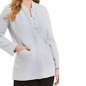 Eileen Fisher Textural Stretch Stand Collar Jacket